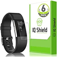 [6-Pack] IQ Shield LiQuidSkin Clear Screen Protector for Fitbit Charge 2 Bubble Free Film