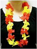 Blumenkette / Hawaiikette / Halskette - rot-gelb (Spanien) - Umfang zirka 100cm (1m)