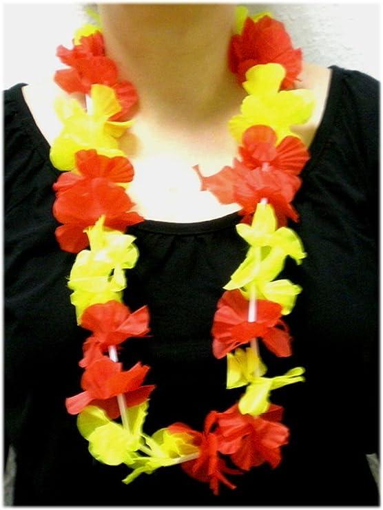 1m - Umfang zirka 100cm rot-gr/ün Sportfanshop24 Blumenkette//Hawaiikette // Halskette Portugal