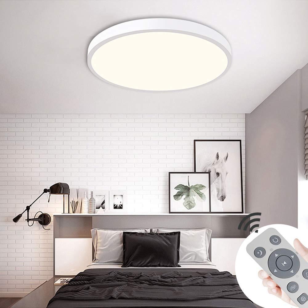 cucina corridoio MIWOOHO 36W Dimmerabile LED Plafoniera Lampada da soffitto LED con Telecomando Illuminazione moderna a soffitto per camera da letto