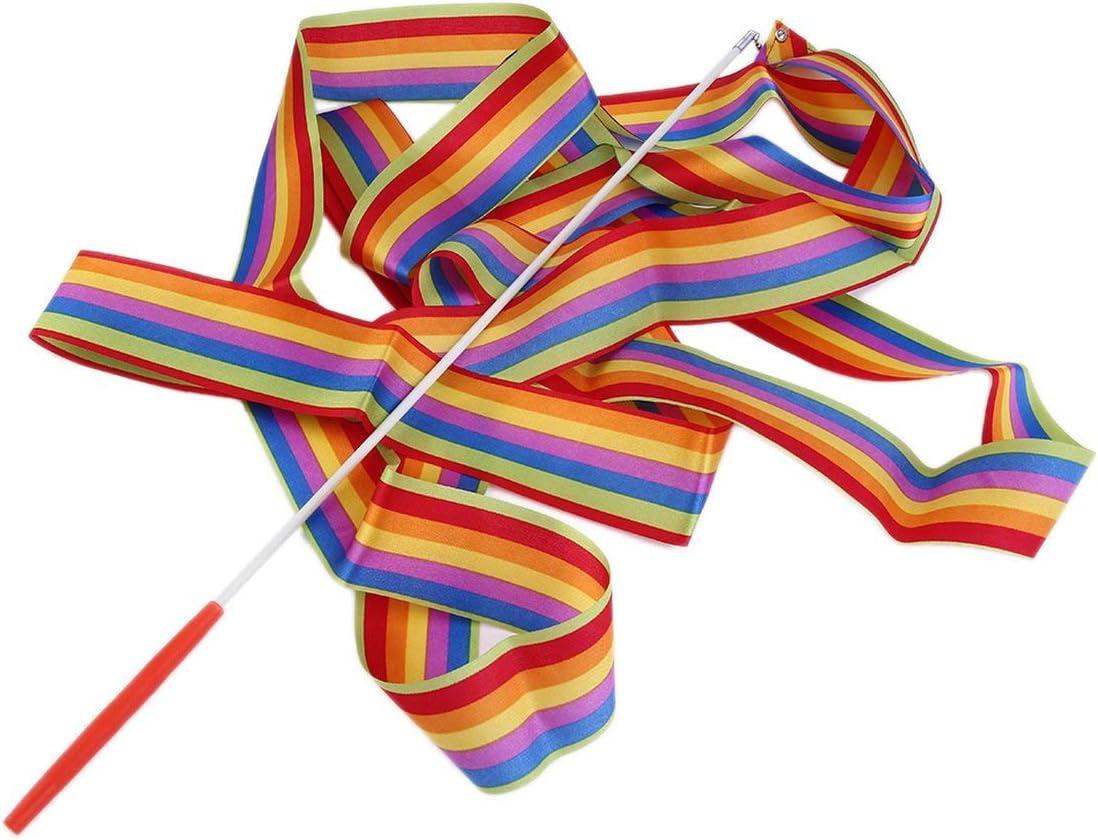 Rythmique Gymnastiques Art Ruban Banderole Twirling Tige Danse Skill Multicolore