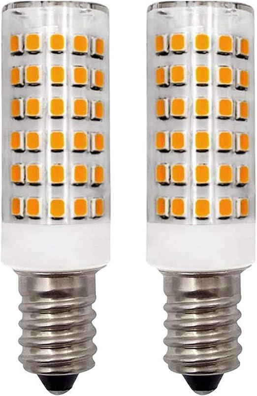 Bombilla LED E14 para campana de cocina, luz blanca cálida, 3000 K, 4,5 W, 40 W, 45 W, 50 W, bombillas halógenas, rosca pequeña, bombillas de vela SES 220 V-240 V, regulable, paquete de 2: Amazon.es: Iluminación