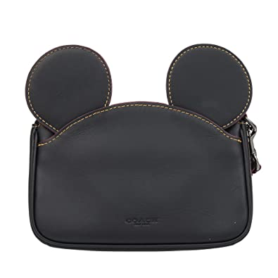 c59a3bc50c Coach Mickey Leather Ear Wristlet in black F59529  Handbags  Amazon.com