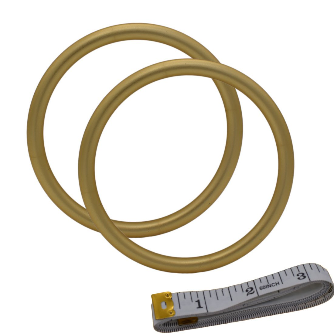 UNISOAR Aluminium Baby Sling Rings for Baby Carriers & Slings 3'' Large Size Gold Color 1 pair with gift