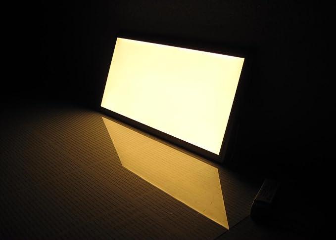 Plafoniera Rettangolare Led : Pannello led w luce calda rettangolare plafoniera