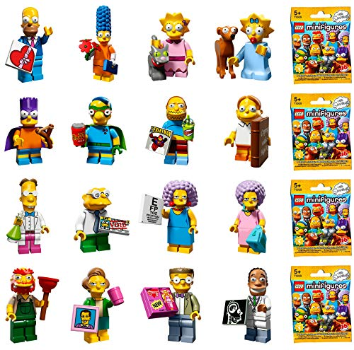 with LEGO Simpsons Minifigures design