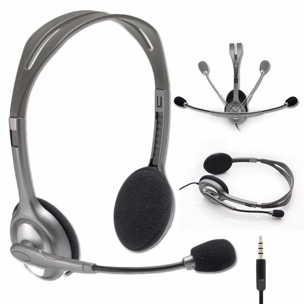 Logitech Stereo Headset H111/H110 with Noise Cancelling Microphone - Bulk Packaging UnAssigned 4336673439