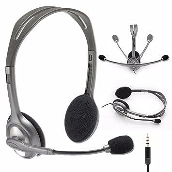 Image result for Logitech Stereo Headset H111 - Grey