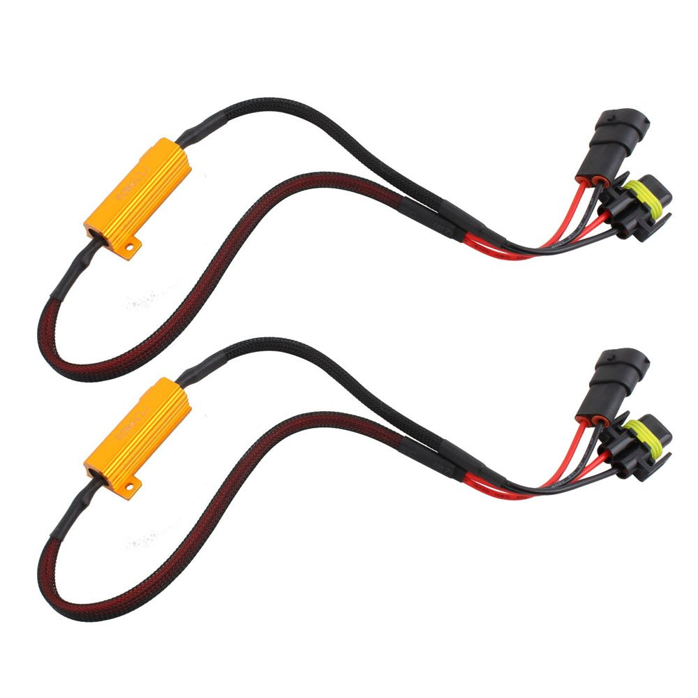 O Nex Hid Led Resistor Kit H11 H8 H9 Relay Harness Vw Type 2 Wire Adapter Anti Flicker Error Decoder Warning Canceller Automotive