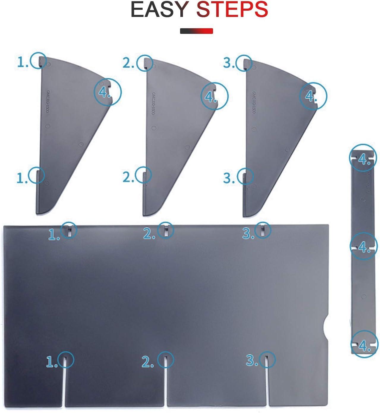 YEE PIN Glove Box Organizer Armrest Box Interval Storage Insert Divider Interior Accessories Fit for 2015 2016 2017 2018 2019 Chevy Colorado GMC Canyon Interior Accessories