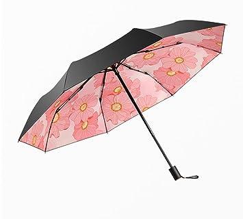 TysLDss Paraguas, sombrillas, protección UV, Plegado, la Lluvia y el Sol Paraguas