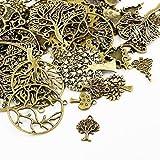 30g x Tibetan Silver Mixed Beads Charms Pendants - Antique Bronze TREES HA07080