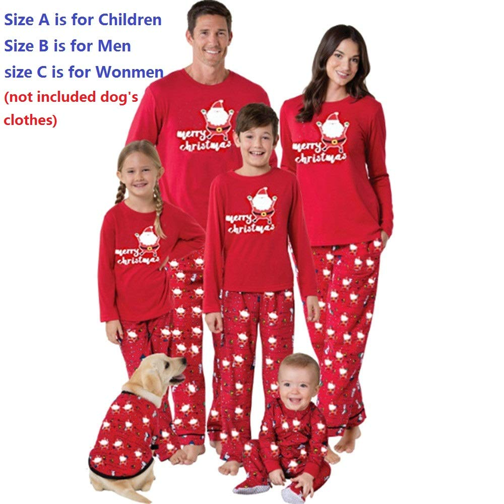G-real Pajamas Set, Men Daddy Santa Claus Tops Blouse Pants Family Pajamas Sleepwear Christmas Set+Fall Winter Set