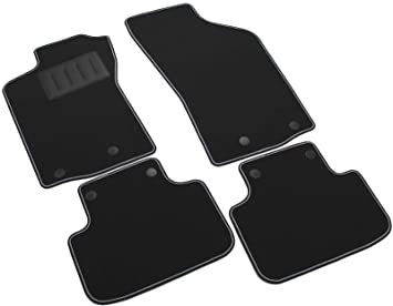 Amazon.es: Il Tappeto Auto SPRINT00100 - Alfombrillas de moqueta Antideslizante, Color Negro, Borde Bicolor, talonera Reforzada de Caucho, para Modelo 147