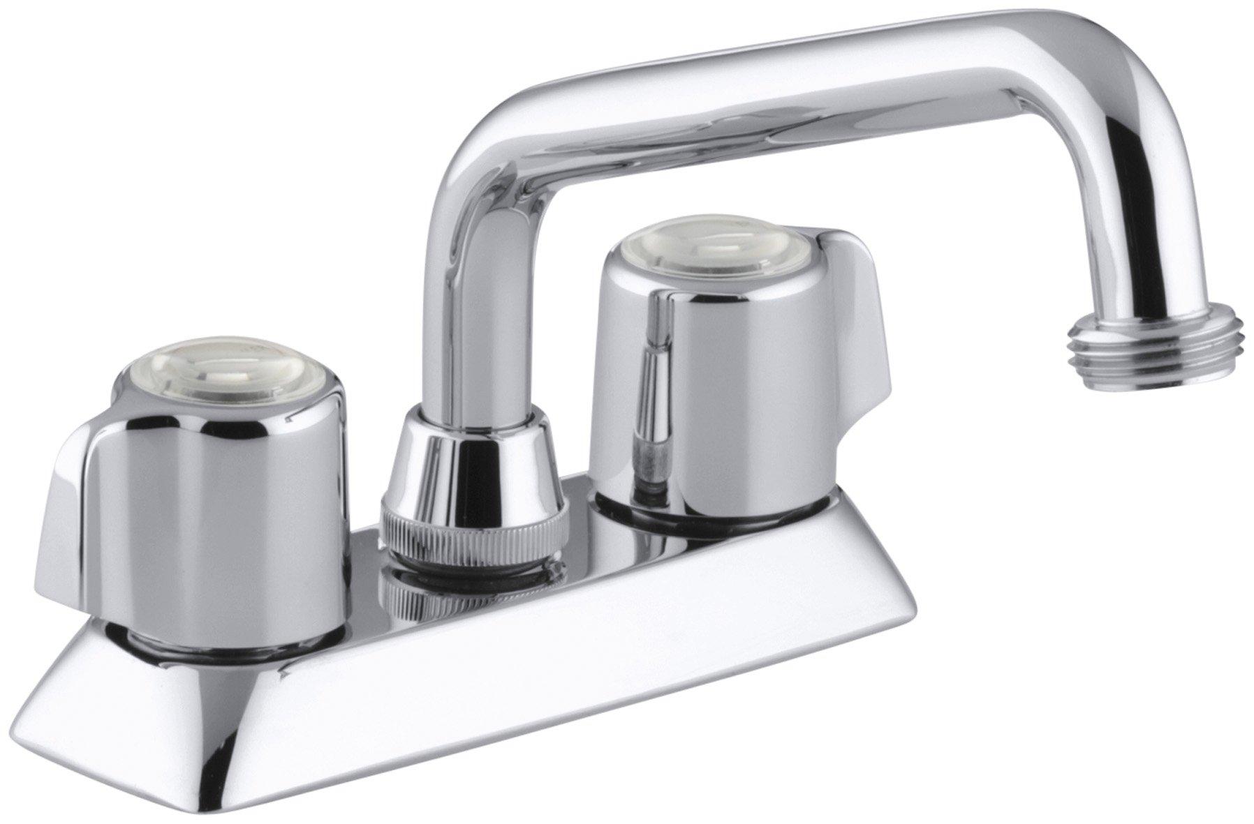 KOHLER K-15271-B-CP Coralais Laundry Sink Faucet, Polished Chrome by Kohler