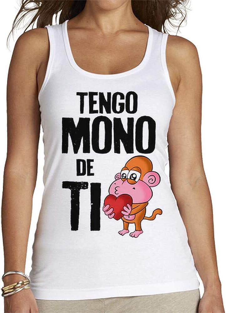 latostadora - Camiseta Tengo Mono de Ti para Mujer Blanco M ...