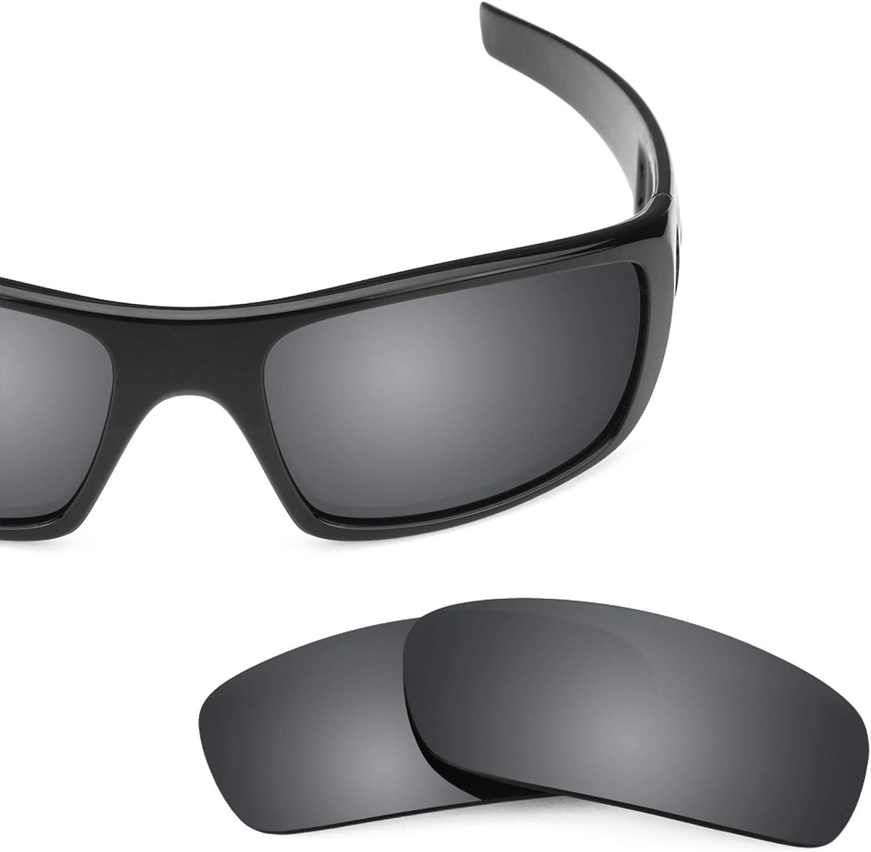 Revant Verres de Rechange pour Oakley Crankshaft - Compatibles avec les Lunettes de Soleil Oakley Crankshaft Chromé Noir Mirrorshield - Non Polarisés