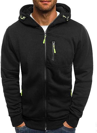 x8jdieu3 Primavera y otoño Nueva Sudadera con Capucha Slim suéter Camisa Cremallera con Capucha Chaqueta Delgada Sudadera: Amazon.es: Ropa y accesorios