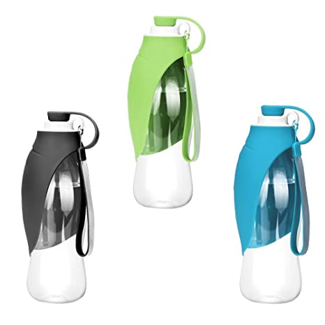 Sue Supply Botella de agua portátil para mascotas, reversible y ligera, dispensador de agua