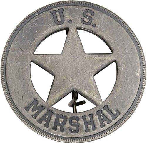 Costume Badge Round US Marshal Old West