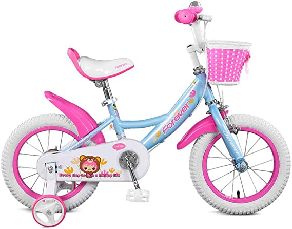 DT Infantil Bicicleta niña Princesa 3-6-8 años de Edad, Cochecito de bebé 14/16 Pulgadas niño Bicicleta Bicicleta calcomanía Interior Proceso con Cesta (Tamaño : 16 Inches): Amazon.es: Hogar