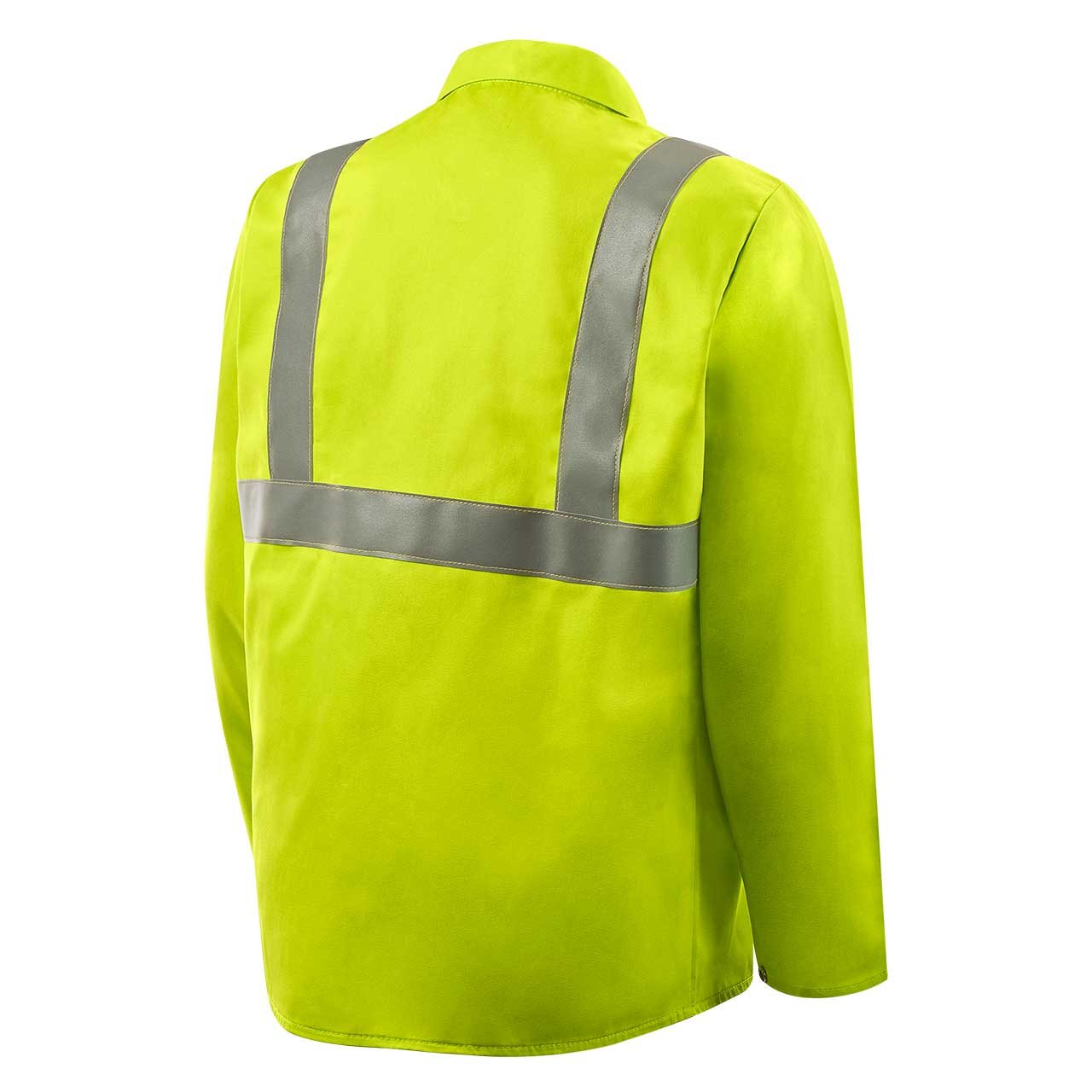 Steiner 1070RS-X 30-Inch Jacket, Weld Lite 9-Ounce Fire Resistant Cotton Lime Green with Silver Reflective Stripes, X-Large by Steiner (Image #2)