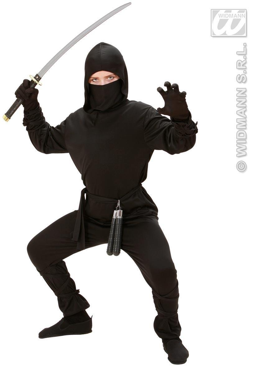 Disfraz de ninja para niños, tallas 128, 140, 158: Amazon.es ...