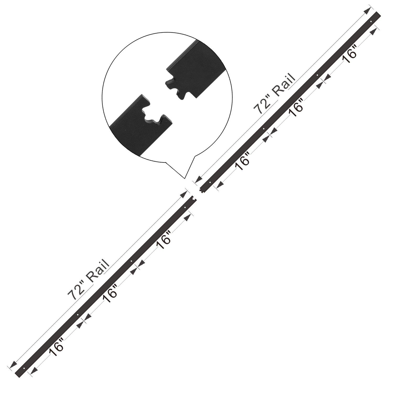 10 FT Track Single Door Kit EaseLife 10 FT Heavy Duty Sliding Barn Door Hardware Track Kit-Ultra Hard Sturdy Sliding Smooth Quiet Fit 52~60 Wide Door Easy Install