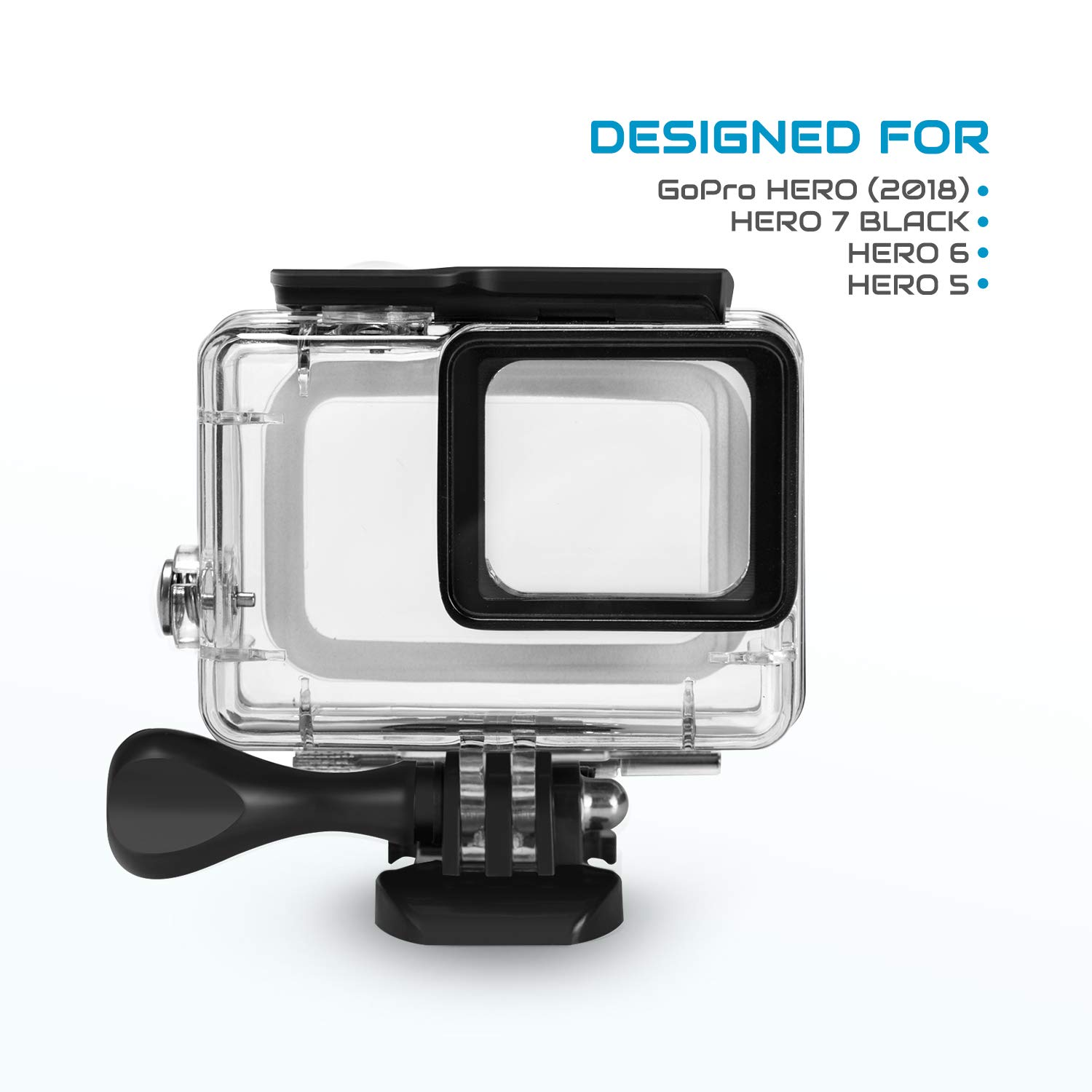 iTrunk Waterproof Housing Case Compatible for Gopro Hero 7 Black 2018 6 5 45 Meters Underwater Protective Case Shell with Bracket Accessories ...