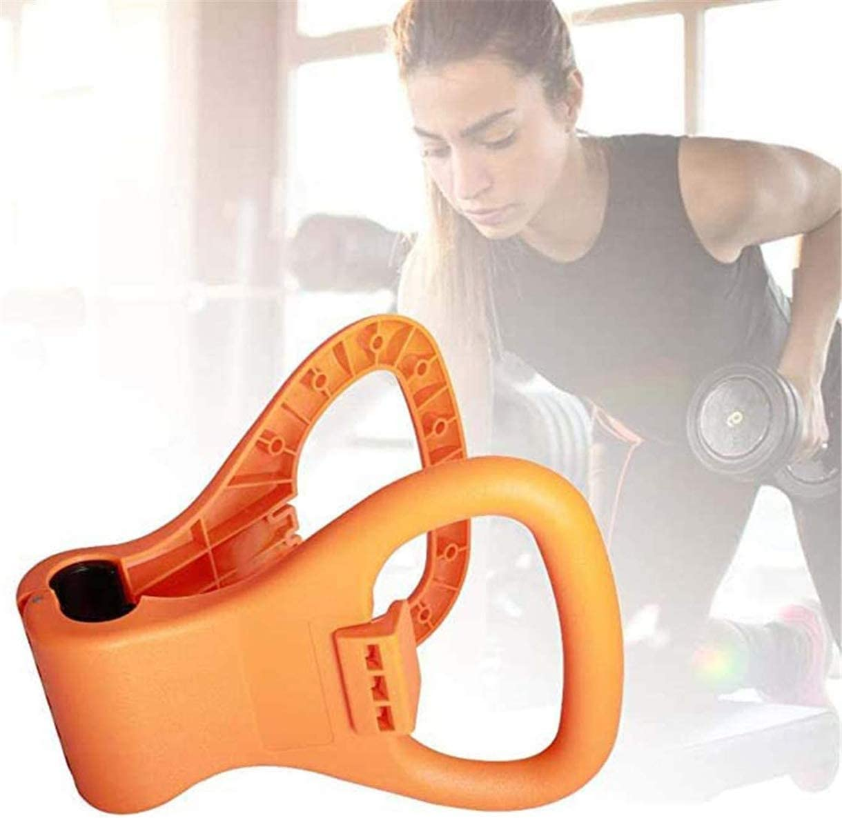 KISSOURBABY Kettlebell Grip,Adjustable Portable Weight Travel Workout Equipment Gear for Gym Weights Bag Weightlifting Bodybuilding