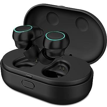 ZBHW Auriculares Bluetooth Auriculares inalámbricos Mini Twins Auriculares inalámbricos estéreo con Caja de Carga y micrófono Incorporado para iPhone y ...
