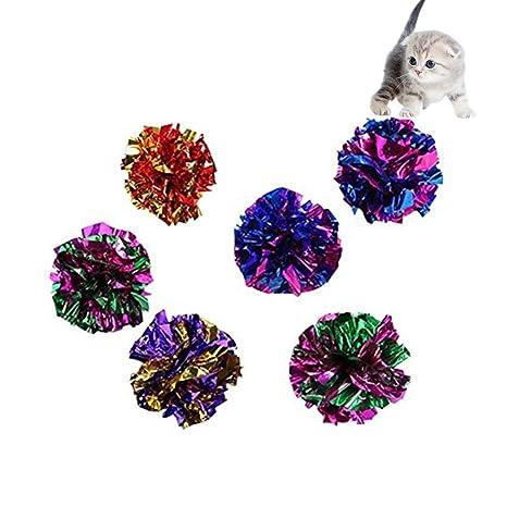 Namgiy 10 bolas de crackle para gatos, pelotas de sonido, sonido de gatito,