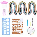 Paper Quilling Set with 26 Color Quilling Papers and Quilling Tools, 11 Pieces