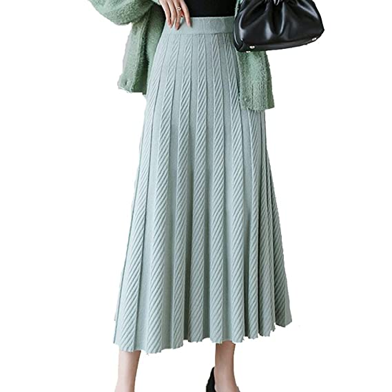Caliente grueso de las mujeres faldas plisadas Otoño Invierno ...