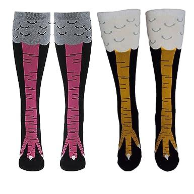 aa107ce80ddf3 Esenfa Chicken Legs Knee-High Socks Fitness Novelty Cosplay Stockings 2  Pairs (C): Amazon.co.uk: Clothing