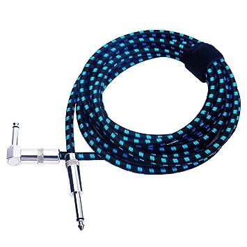 6.3 !n Gitarrenkabel Anschlußkabel-Instrumentenkabel-Länge 3m schwarz-Klinke