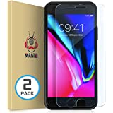 [2-Pack] iPhone 8 Plus 7 Plus 6S Plus 6 Plus Screen Protector MANTO iPhone Screen Protector Compatible with iPhone 8 Plus / 7 Plus / 6s Plus / 6 Plus Tempered Glass with Easy Aligning Frame, Clear