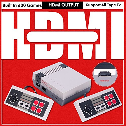 NES Mini 600 Classic Video Games Console w/2 Controllers HDMI/AV SYSTEM