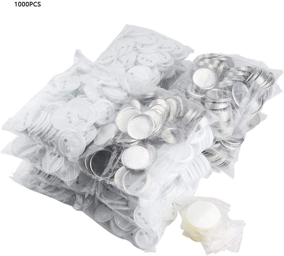 1000pcs 58mm Botón de broche de pin en blanco de bricolaje para Hacer Pins Botones