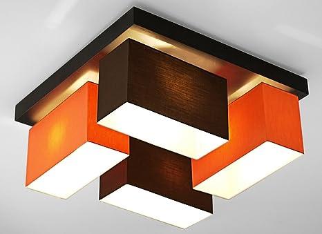 Deckenleuchte Wohnzimmer Wero Design Vitoria-001 Weiß/Orange Leuchte ...