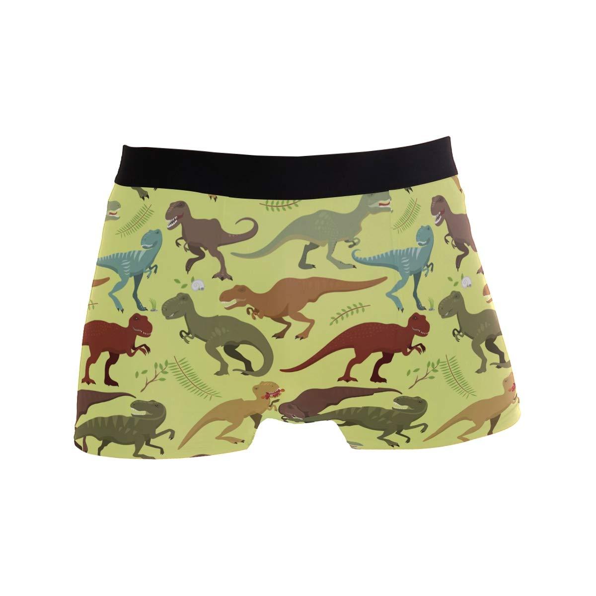 Animals Comfortable Mens Boxer Briefs Multi-Size Soft Underwear S