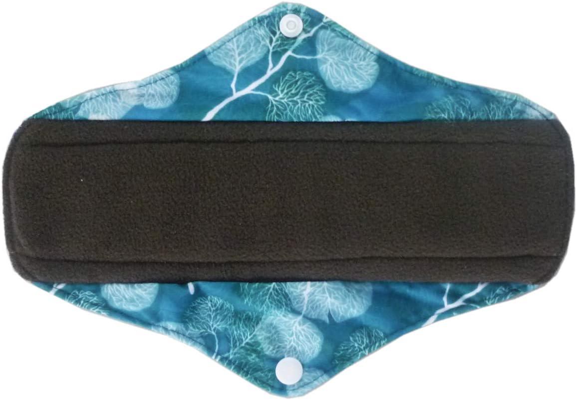 7PCS//Set 6PCS 10 Inch Charcoal Bamboo Cloth Reusable Washable Menstrual Pads Sanitary Pads+1PC Wet Bag