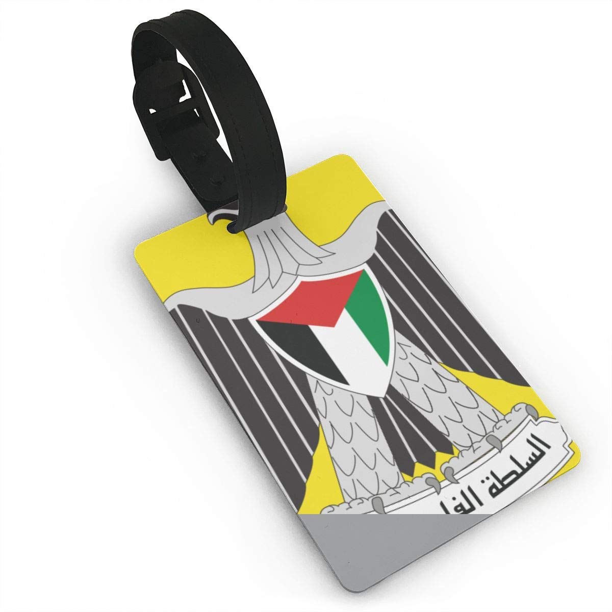 KODW12 Coat of Arms of The Palestinian National Authority Luggage Tag Travel Bag Labels Suitcase Bag Tag Name Address Cards