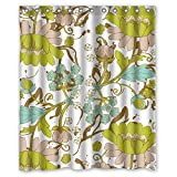 Artsplaza Flower Polyester Christmas Shower Curtains Width X Height / 60 X 72 Inches / W H 150 By 180 Cm For Kids Boys Valentine Bf Mother. With Hooks. Fabric Material