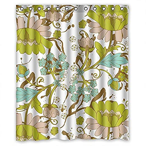 ZEEZON The Flower Christmas Shower Curtains Of Polyester Width X Height / 72 X 72 Inches / W H 180 By 180 Cm Decoration Gift For Wife Kids Kids Girl Boys. Rust Proof - Swirl Remover Gallon