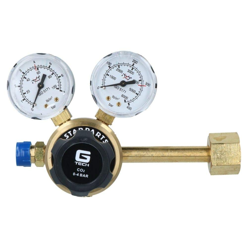 Carbon Dioxide CO2 Single Stage 2 Gauge Regulator (Side Entry) Gas Welding by Tao tao family