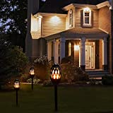 Wireless Led Tiki Torches, Dancing Flames Torch Lights, Waterproof Outdoor Light, 96 LEDs Path Lights