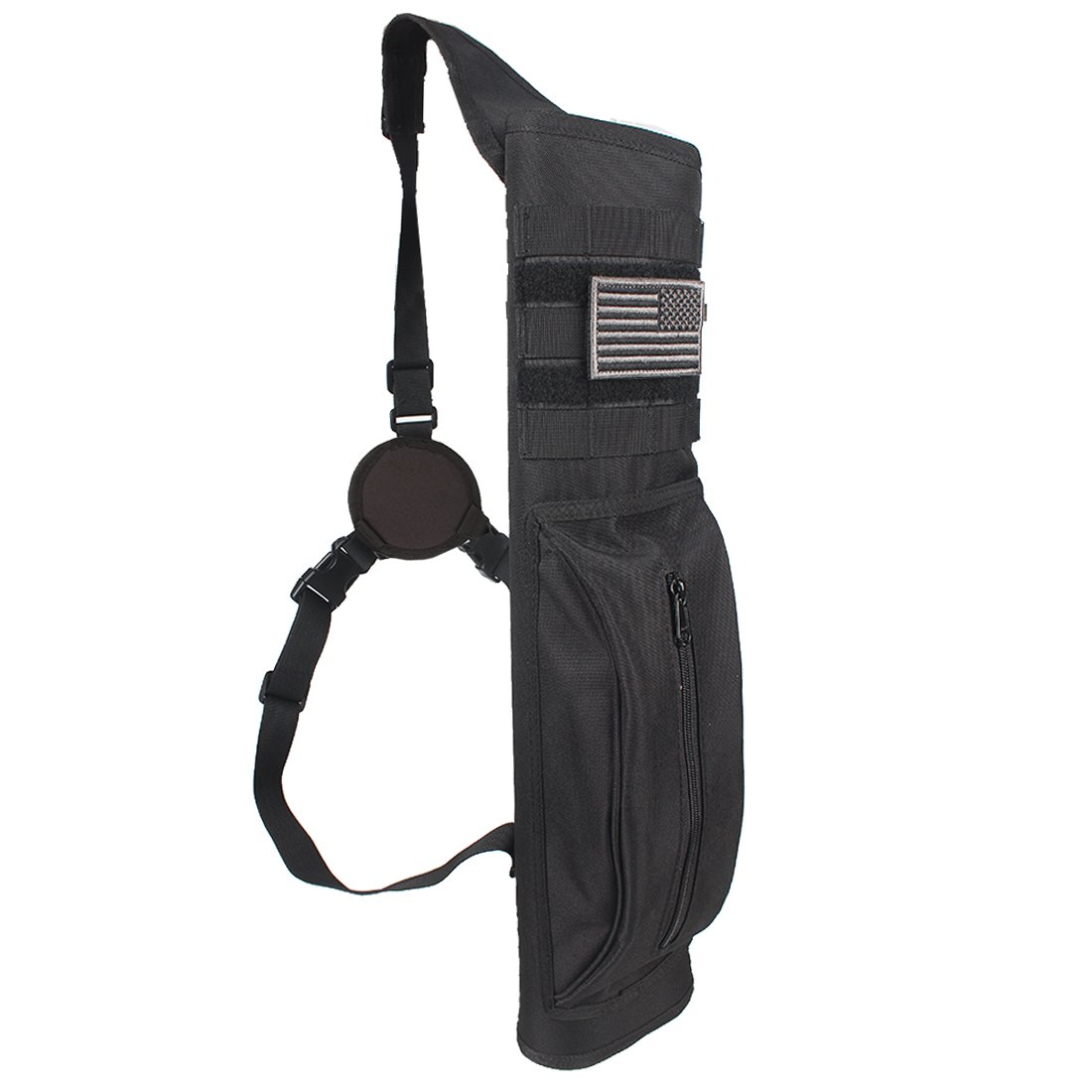 KRATARC Archery Multi-Function Heavy Duty Back Arrow Quiver with Molle System Shoulder Hanged Target Shooting Quiver for Arrows by KRATARC