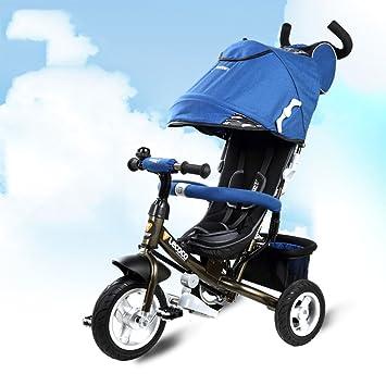 Niños triciclo, 1-3 años de edad Multifunción bebé bicicleta Carrito bebé carro de bebé (Color : Azul) : Amazon.es: Deportes y aire libre
