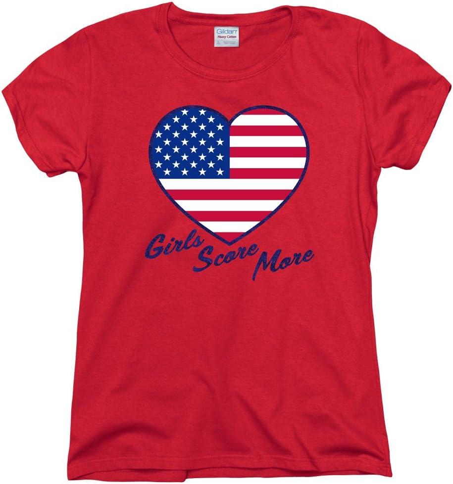 USA Soccer Womens//Ladies Girls Score More T-Shirt